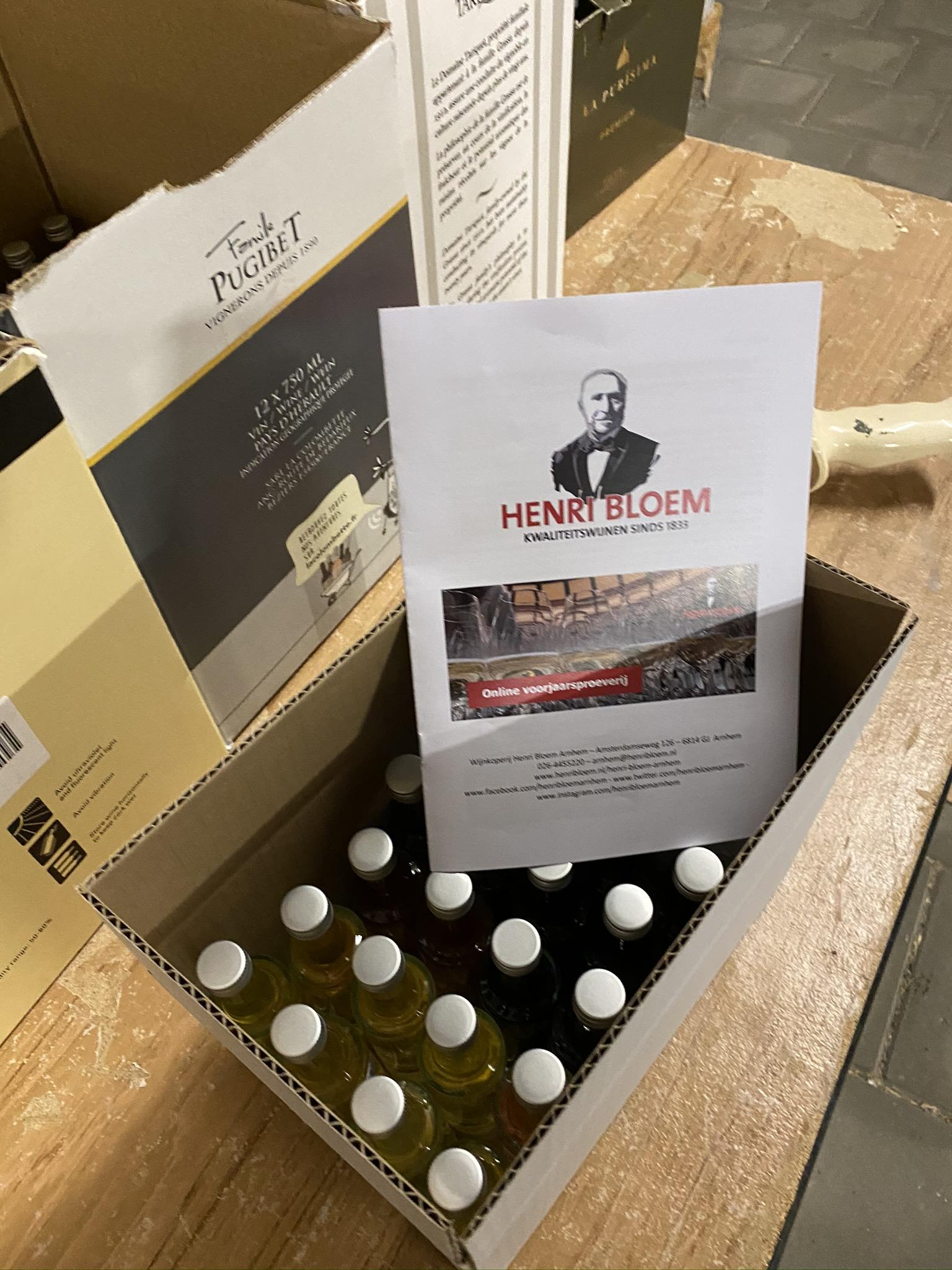 Pakketjes verzenden online wijnproeverij