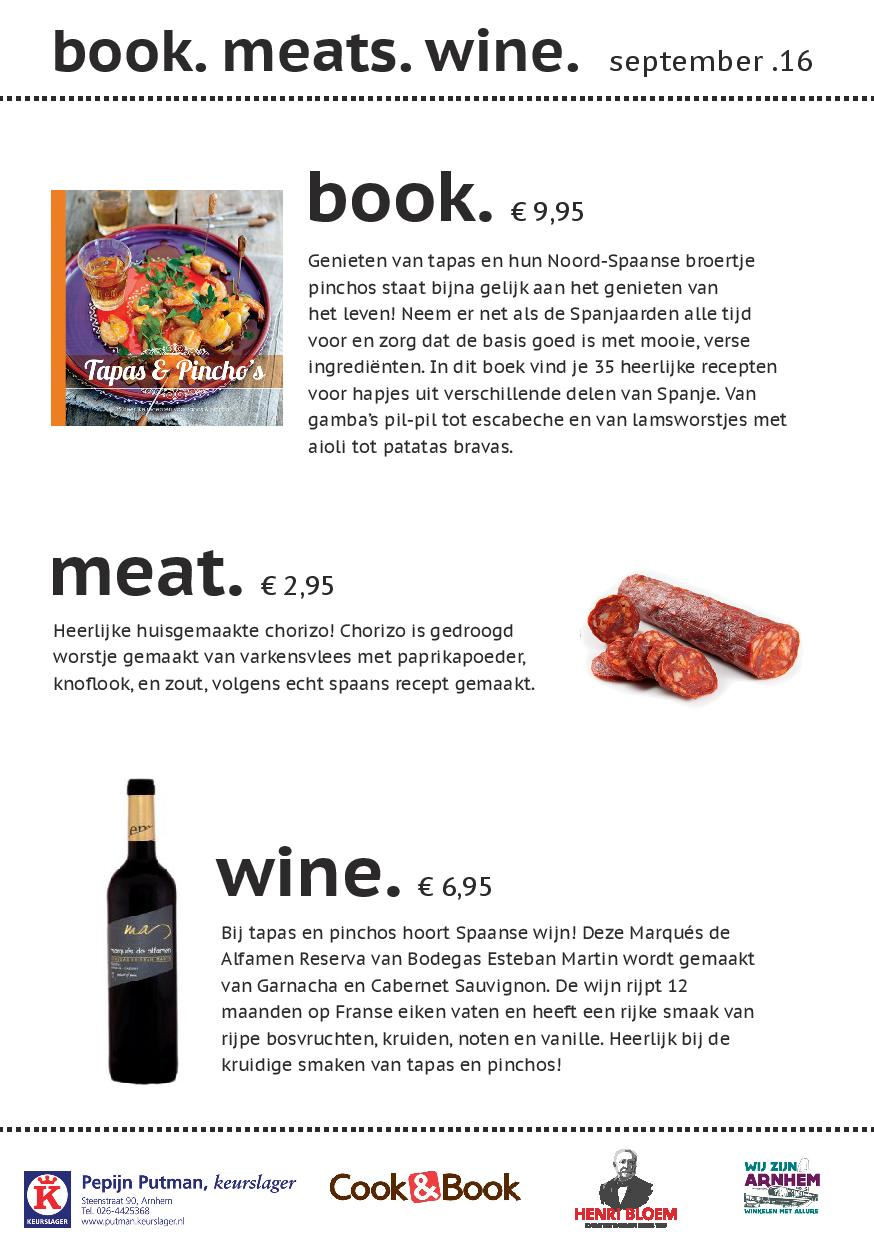 book. meats. wine. september 2016