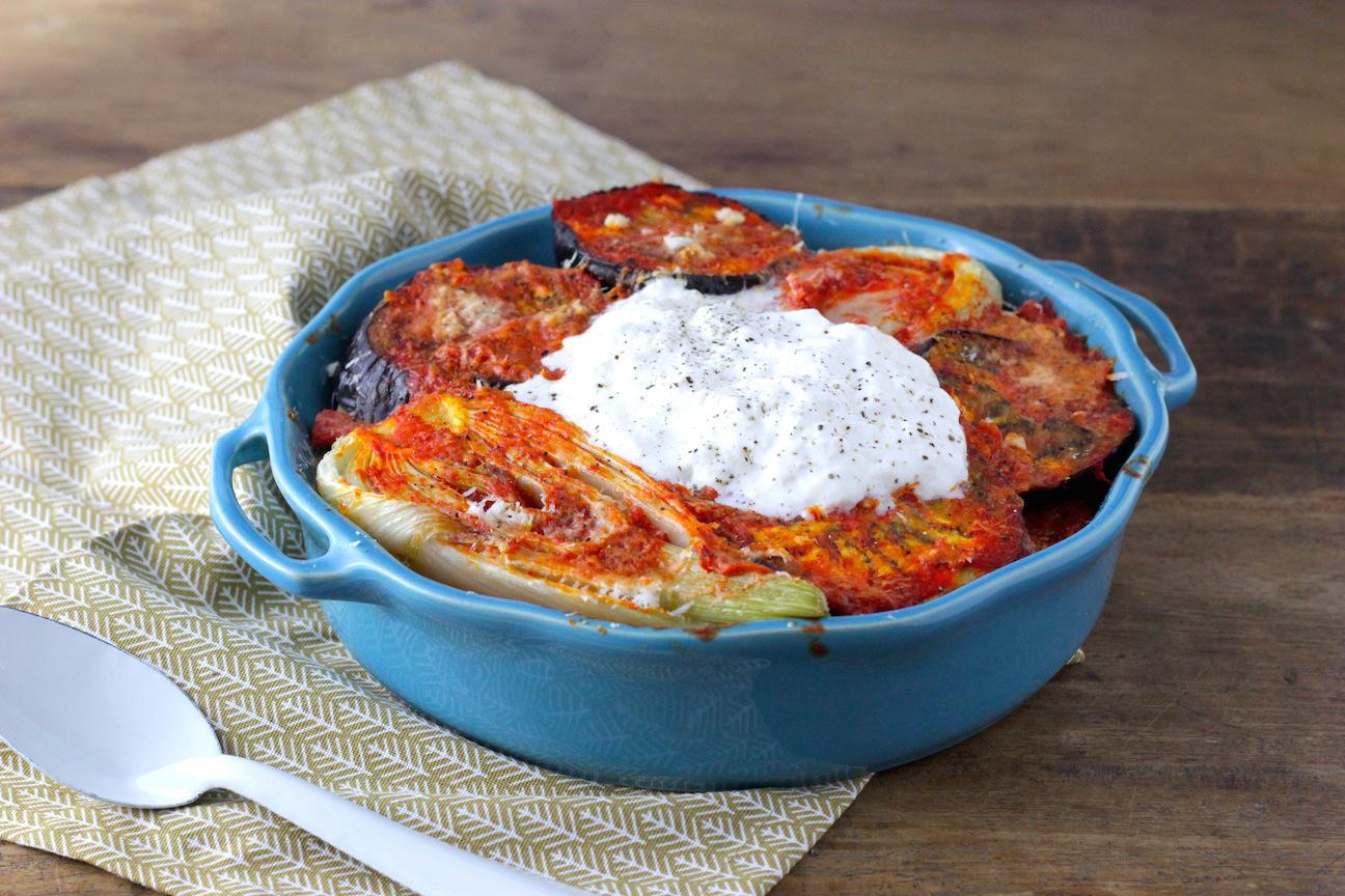 Geroosterde groeten met Burrata